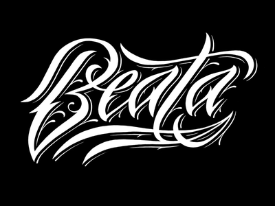 Beata WB beata namesbymx name script lettering tattoo
