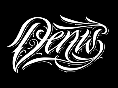 Denis WB tattoo script namesbymx name calligraphy lettering denis