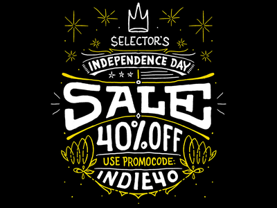 Selector! Sale collage design handwriting typography lettering