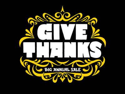 Selector Give Thanks handlettering thanksgiving sale typography hand-drawn lettering