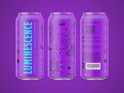 Tall Boy Beer Cans color purple tampa florida packaging illustration branding can beer can beer label beer