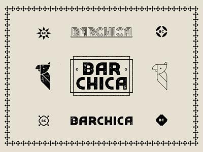 Cocktail Lounge tile latin cuban signage pattern deco artdeco restaurant cocktails bar parrot logo texture illustration branding