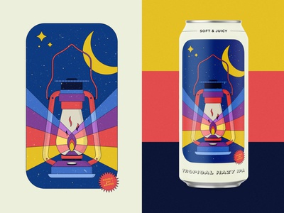 Hazy IPA Can Design packaging can design beer label hazy space night lantern brewery beer can ipa beer