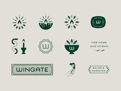 Brand Assets type lockup texture logotype apothecary candle logo metallic gold illustration type brand assets