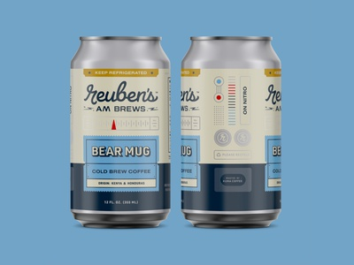 Cold Brew Coffee vintage retro beer can cold brew coffee packaging branding