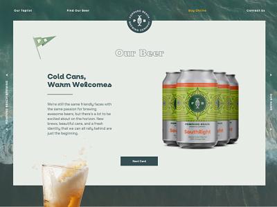 Pompano Beach Brewing Site florida landing page beer website beer ui web