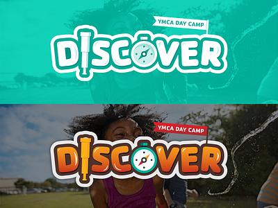 YMCA Summer Camp bubble kids summer discover wordmark illustration camp logo branding
