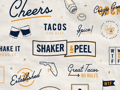 Taco 'Bout Assets taco tuesday palm canyon drive florida cocktails drinks tacos assets pattern texture food mark illustration branding