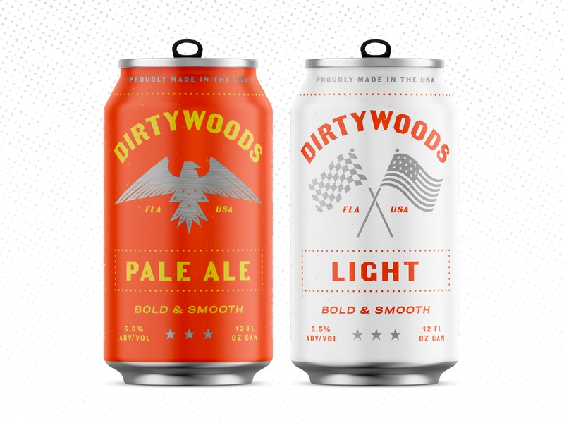 Drink Dirty Pt. 1 typography patriotic light beer pale ale america red beer branding packaging alcohol southern can beer can beer