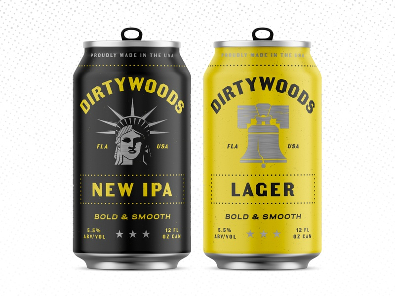 Drink Dirty Pt. 2 liberty liberty bell ipa lager patriotic america yellow beer branding packaging can beer can beer
