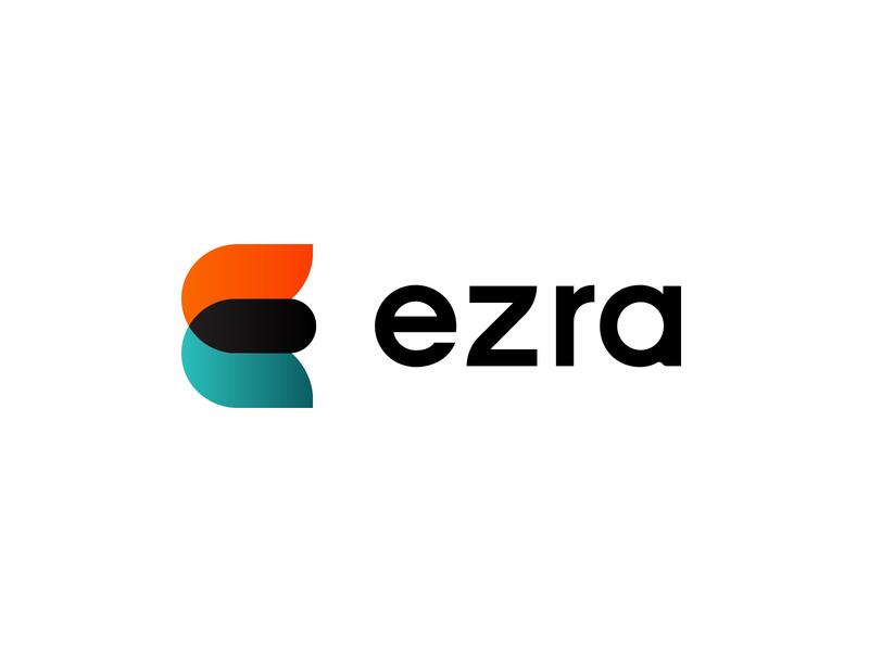 Ezra Brand System enamel pin green orange breakdown icons custom logotype logomark vector badge icon simple mark logo branding
