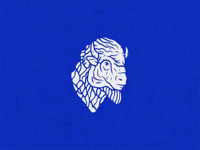 Buffalo Mo logomark logo grunge new york buffalo vector texture icon mark illustration
