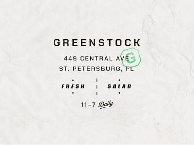 Type Set stamp logotype shirt badge lockup texture fonts salad hierarchy typography