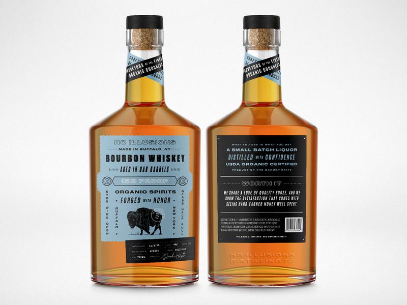 Whiskey Concept organic logo spirits eyes new york buffalo packaging whiskey and branding label bottle liquor whiskey
