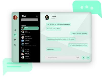 Maratón UI - Direct Messaging portrait ui app web chat social browser message directmessagin