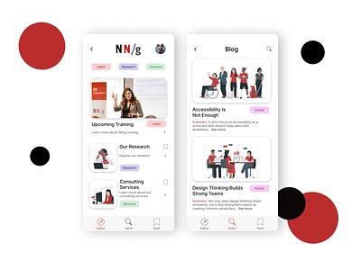 DailyUI - #35 Blog Post phone illustration learn blog app design ui nilsen norman nngroup