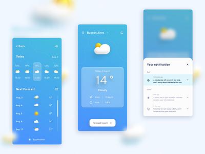 DailyUI - #37 Weather illustration productdesign product branding design app weather ui