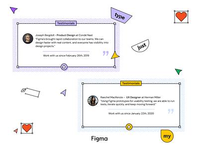 DailyUI - #39 Testimonials vector web design figma browser app ui testimonials