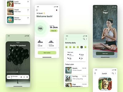 DailyUI - #41 Workout Tracker work productdesign product tracker workout design app ui