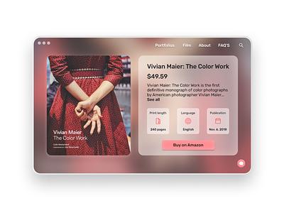 DailyUI - #45 Info Card photographer vivianmaier graphic design cart book design ui web browser app card info