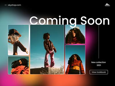 DailyUI - #48 Coming Soon style book look design branding logo browser web app ui daily soon coming