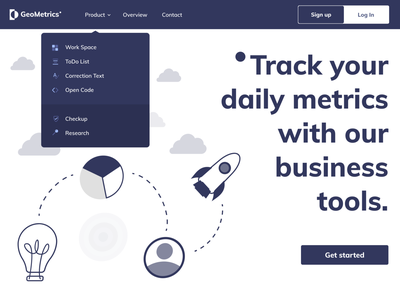DailyUI - #53 Header Navigation figma tools business daily design illustration browser web app ui navigation header