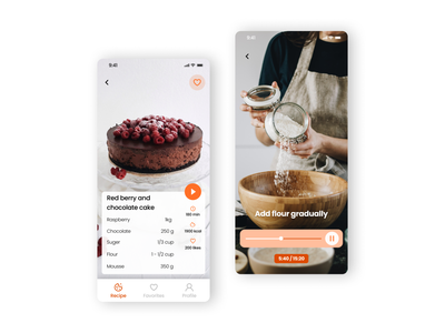 DailyUI - #57 Video Player user interface cook recipe design ui daily player app video