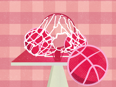 Debut Shot! halftone texture grid perspective illustration debut