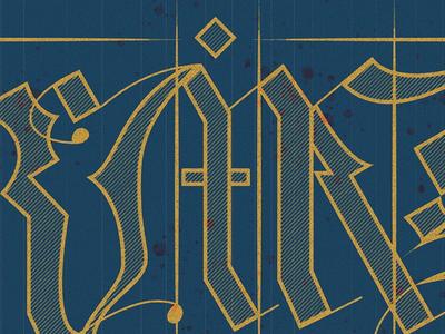Medieval Script Study ligature grid texture medieval lettering