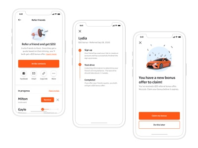 Root Referral Program earn social share root insurance root referral product design ux ui