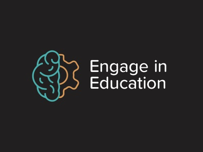 Engage In Education logo rounded simple line logo education