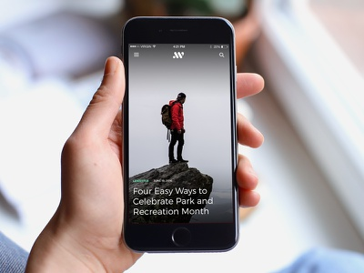 Article Overview news web mobile iphone article editorial ux ui