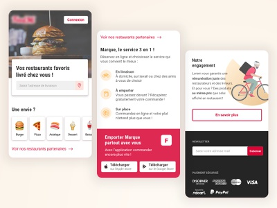 Online food delivery website mobile website ui interface