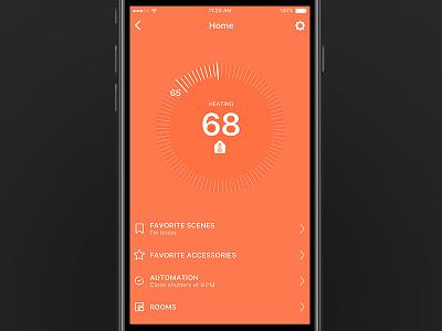 Home App minimal ui ux orange app home kit