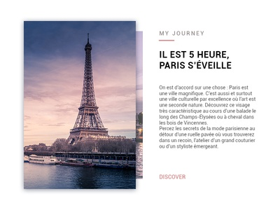 Card about Paris