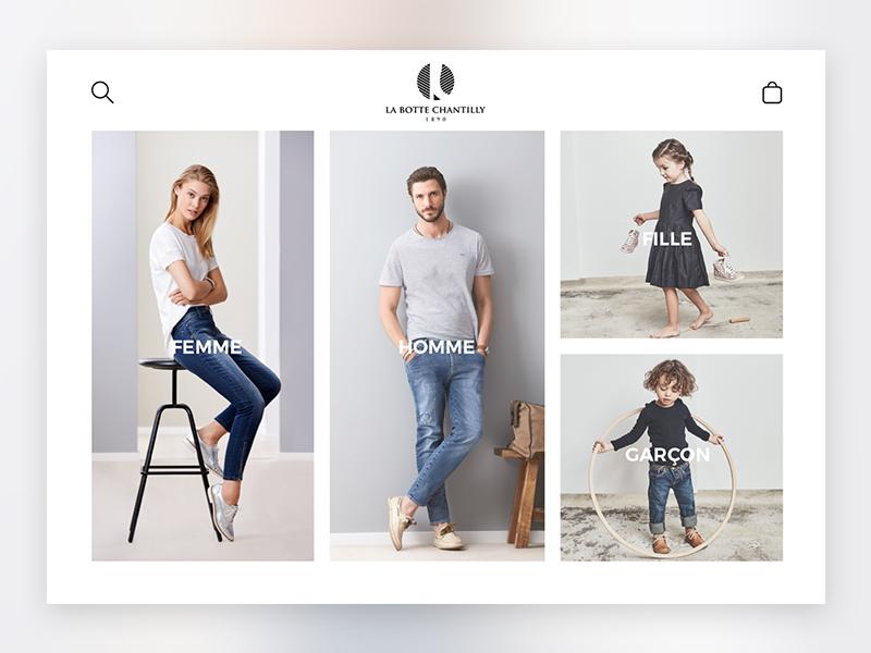 """Kiosk for """"La Botte Chantilly"""" shop e-shop shop interface ui ux kiosk"""