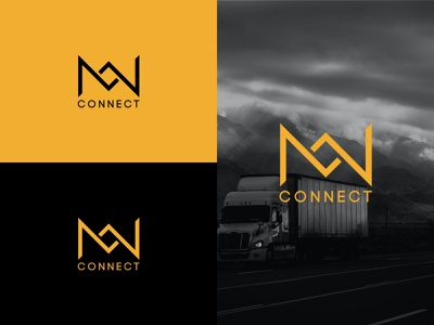 MW CONNECT typography illustration icon graphic design design vector branding logo