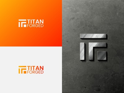 TITAN FORGED typography icon illustration design vector branding logo graphic design