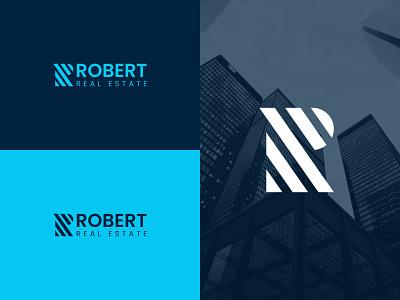 ROBERT - REAL ESTATE LOGO flat minimal illustrator typography illustration icon graphic design design vector branding logo