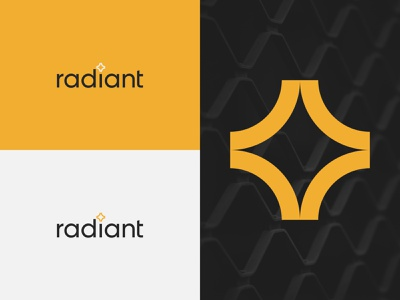 RADIANT typography illustration icon graphic design design vector branding logo