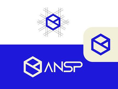 ANSP CONSTRUCTION - LOGO DESIGN logo design clean brand art minimal illustrator flat typography illustration icon graphic design design vector branding logo
