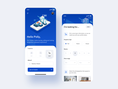 🏘️Real Estate App buying house listing ux app mobile mobile design mobile app renting property real estate ui isometric illustrator illustration