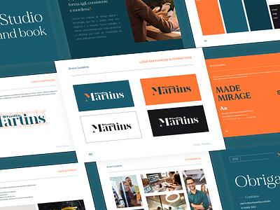 Brand Book - Studio Martins manualdemarca brandbook app ux vector icon typography ui logo branding illustration design