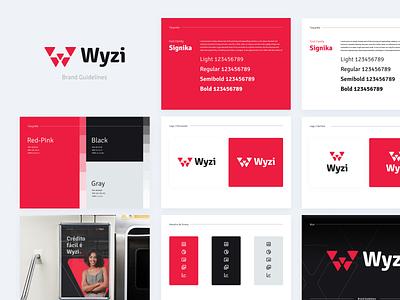 Wyzi Brand motion graphics loan credit brasil productdesign app vector illustration ui ux logo design branding brandbook