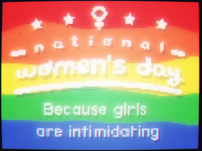 Girls are intimidating independent barf puke rainbow intimidation national womensday woman girls