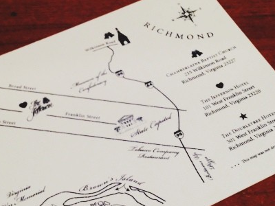 Richmond wedding map