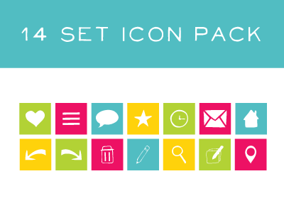 14 Set Icon Pack icons hand drawn vector