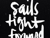 sails tight forward steady