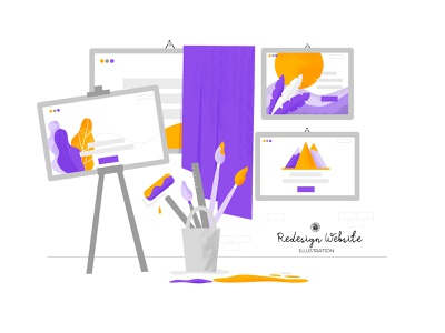 Redesign Website Illustration affinity vectorart online redesigned redesign concept vector redesign. webdesign web illustartion under construction website redesign