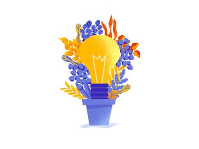 Idea concept grow ideas webdesign web illustration business identity floral affinity growing idea